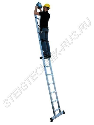 Приставная лестница алюминий Günzburger Steigtechnik 10012 со стандартным стабилизатором