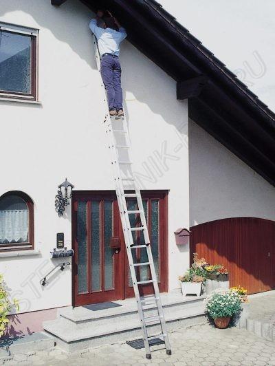 Приставная двухсекционная лестница алюминий 2 x 6 Günzburger Steigtechnik