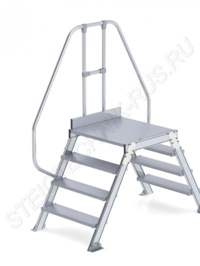 Мостовая лестница из алюминия 2х4 Günzburger Steigtechnik