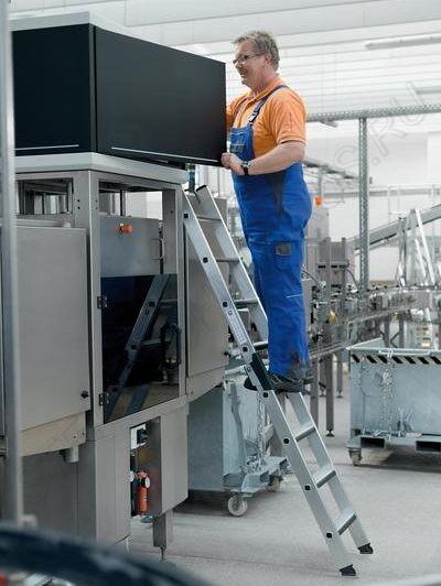 приставная алюминиевая лестница с Ergo-pad и м Günzburger Steigtechnik