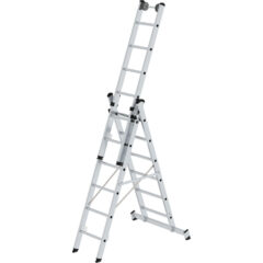 Трехсекционная выдвижная лестница