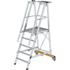 Односторонняя передвижная и складная лестница с платформой