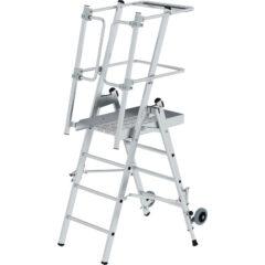 Передвижные и складные лестници с платформой