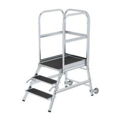 Алюминиевые лестницы с платформой