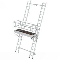 Подмости для узких проходов и лестничная платформа
