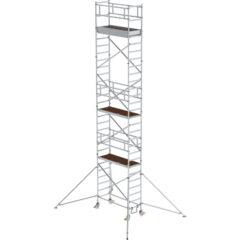 Передвижные вышки-туры с шасси, опорами и платформами каждые 2 м